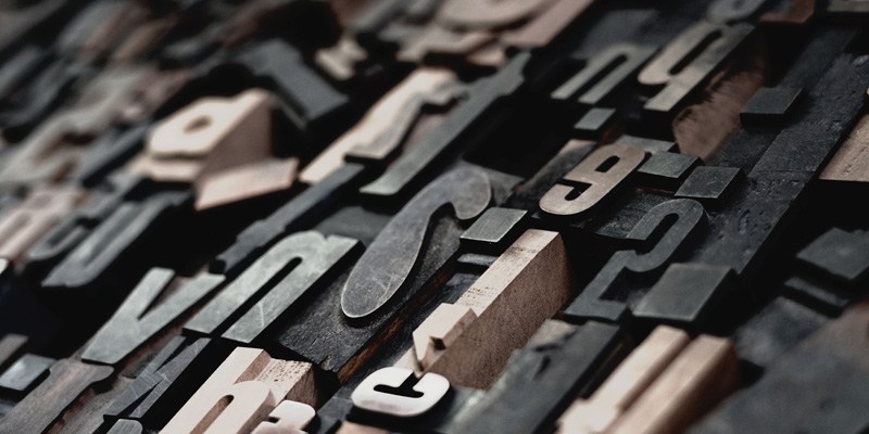 Picture of Letter Press Type